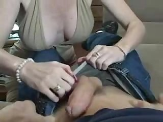 Hypnotized mature fucked by young stud