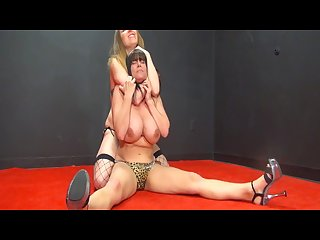 Topless thick milf brunette catfight Rebecca vs samantha