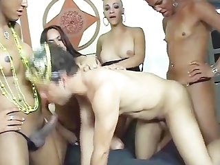 Gang banged by transsexuals 2 scene 1