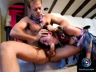 Venus rewarded her slave Rocco by giving the roughest fuck she can give