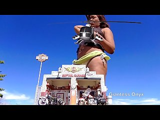 Giantess hungry ebony vore
