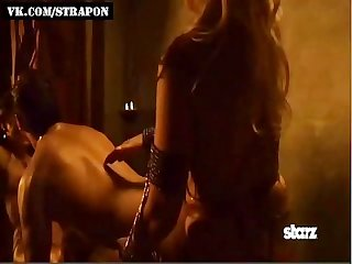 Strap on sex in mainstream spartacus series