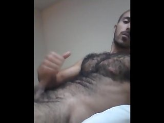 Arab blowing a big load all over my hairy body Arab Macho hairy hunk