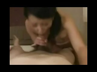 Pretty malaysian milf blowjob