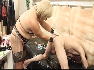 Mature mistress fuck man slaves very dirty talking
