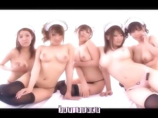 The jav diner beautiful girls big tit cafe pmv