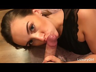 Sex Toy Fucks My Little Pussy and after I Suck a Cock with Oral Creampie