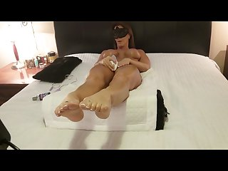 Hot wife masturbates with womanizer 500 nice orgasm foot lovers