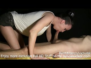 Goddess had almost cummed at spitting to cock at 2 13 sylvia chrystall Hd