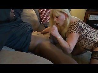 Tranny bareback creampie interracial