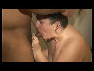 Pawg sucking and fucking a black cock