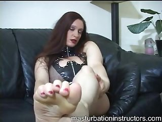 Femdom foot slave instructions pov worship