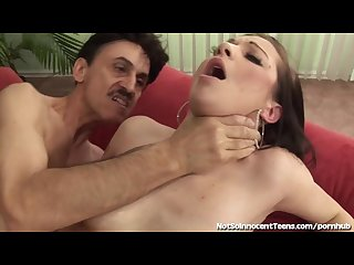 Teen slut seduces much older man