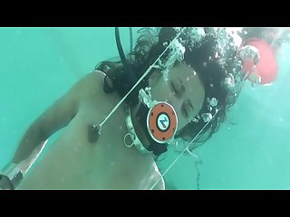 Drea morgan frogtied underwater
