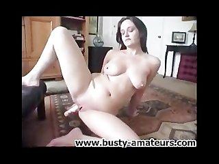 Jennifer dildoing her pussy on the floor