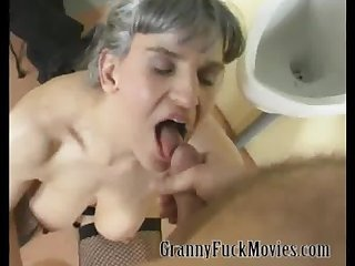 Nasty granny group fuck party