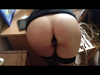 Young anal slut fucked on the table