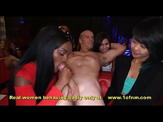 Out of control women sucking strippers cocks
