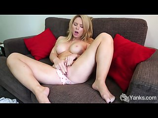 Busty madison masturbating her slit