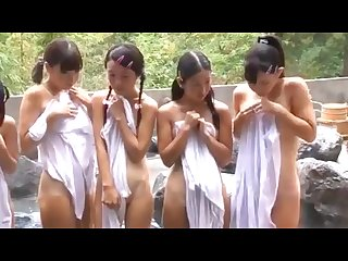 Little ichigo aoi friends in public bath surprised group fucked raw