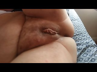 Fingering my cum filled pussy
