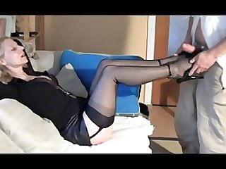 Hot wife sexy nylon legs high heel job heelslovers pornhub