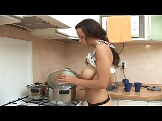 Kristina in the kitchen
