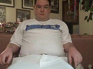 Fat boy sexy strip and cumm