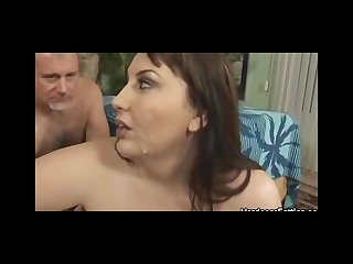 Gangbanged bbw jane showered with jizz