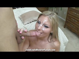Brianna brooks takes a massive facial