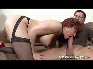 Mature women seduces her stepson