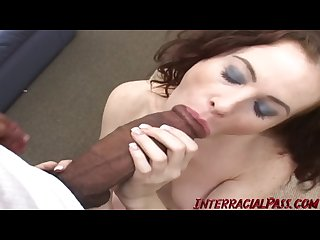 A fan Ginger wants the massive black cock