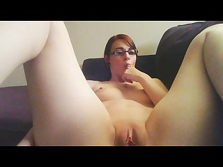 Milk and butt plug masturbation