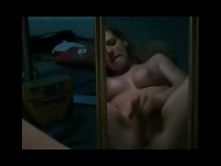 Masturbating in front of the mirror