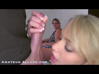 Amateur allure mia malkova first porn scene while her real mom watches