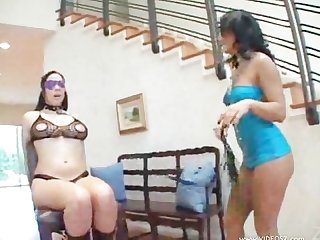 Sandra romain and Gianna michaels bondage lesbian