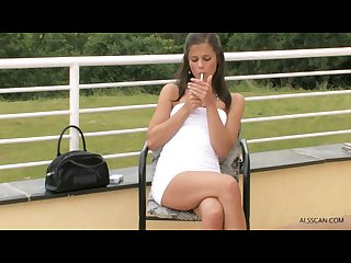 Little Caprice smoking