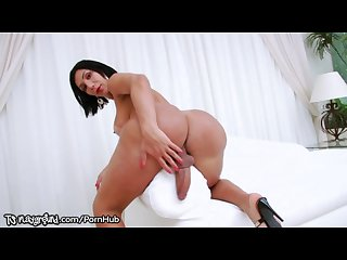 Monster cock tranny jerking off