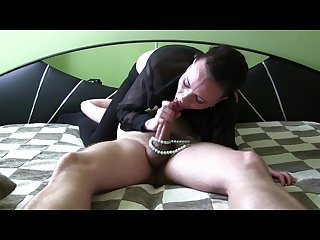 Sloppy deepthroat with pearls backstage blowjob queen sylvia chrystall hd