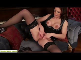 Miah croft plays with mature pussy