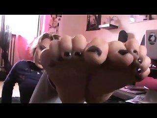 Italian babe feet joi