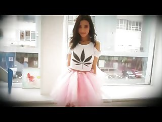 Sasha p in pink skirt