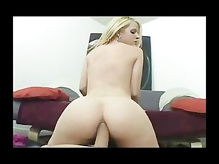 Busty blonde bimbo loves anal sex