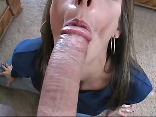 Measuring big cock blowjob