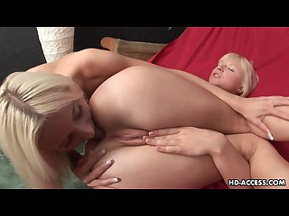 Blonde babes are having pussy licking fun together