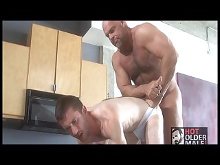 Daddy zak spears fucks his neighbor on the counter
