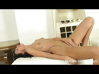 Gorgeous tight pussy cums hard