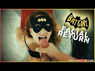 Facial superhero chap 1 batgirl or Catwoman cum on her face