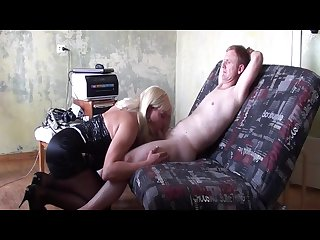 Crossdresser creampie interracial