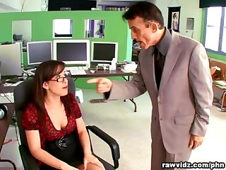 Jennifer white hot secretary fucks her boss